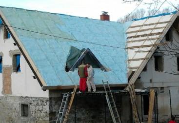 Zateplení jednoplášťové střechy